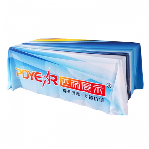 Standard Trade show custom printed Table Covers cloths droped